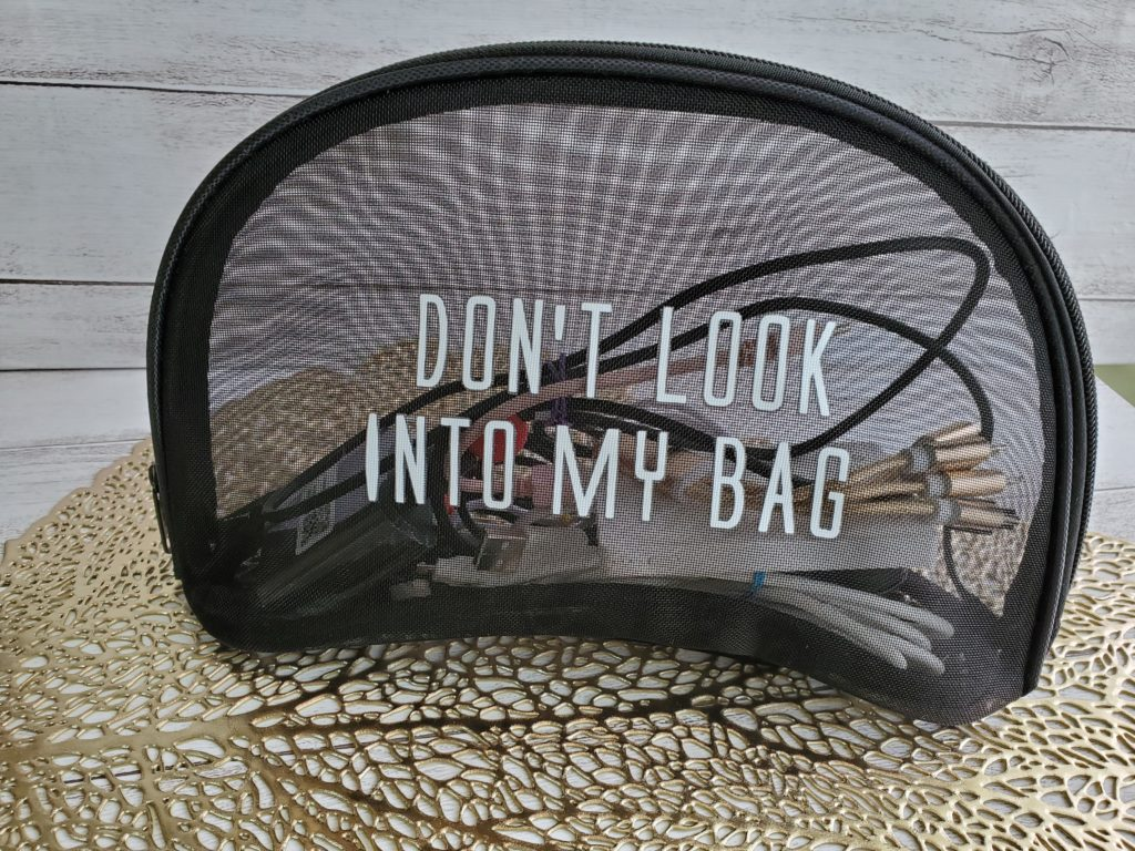 See through make up pouch